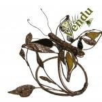 Christine jean sculpture cuivre et verre Petit Papillon