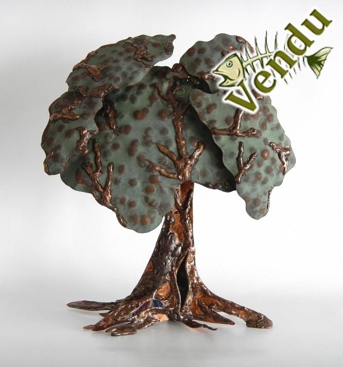 Christine Jean Artiste Québec Canada cuivre verre arbre château Frontenac sculpture soudure